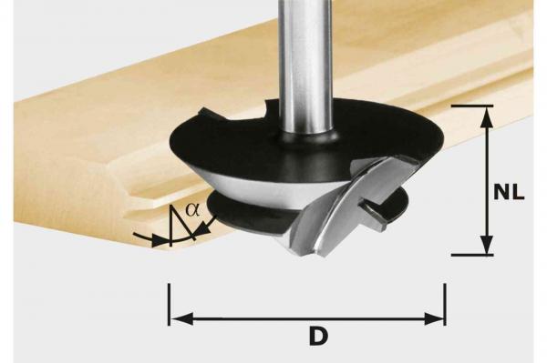 Festool Freza pentru imbinari nut si feder in unghi de 45 de grade HW D 64 27 S12