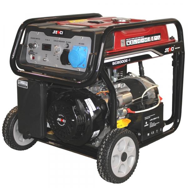 Generator de curent monofazat Senci SC-8000E Putere maxim 7.0 kw AVR