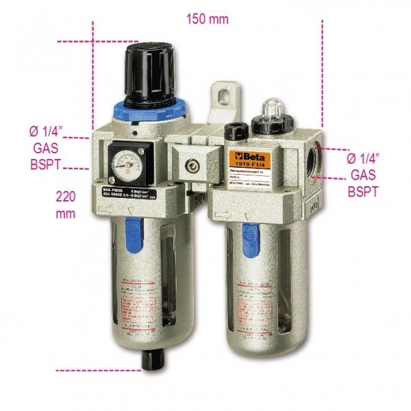 Baterie filtranta cu regulator si lubrificator 1 4 1919F1 4