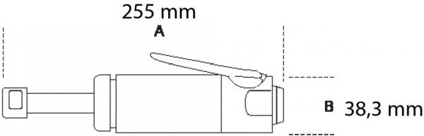Biax pneumatic cu ax lung 1933L