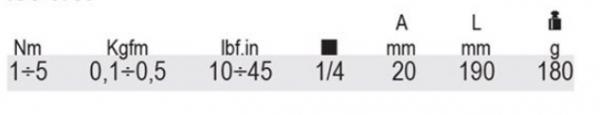 Cheie dinamometrica, actionare 1 4 , 1-5Nm 605E 5