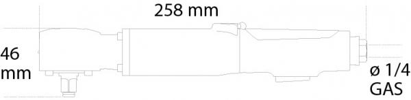 Cheie unghiulara pneumatica, reversibila, 1 2 1921N3