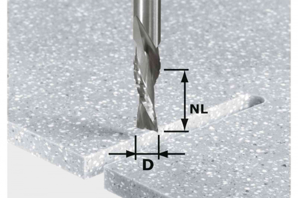 Festool Bit de freza pentru slefuire bruta si finisare HW Spi D12 42 LD ss S12