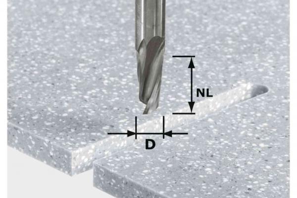 Festool Freza pentru canale elicoidale HW D12 27 ss S12