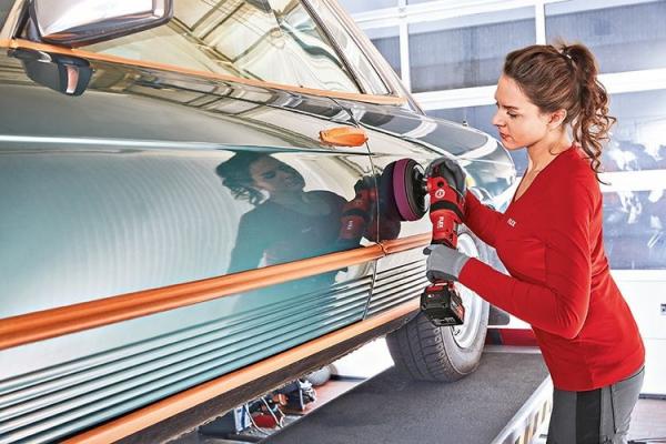 Masina de sefuit polisat cu acumulatori FLEX PE 150 18.0-EC SET