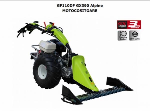Motocositoare Grillo GF110DF Alpine motor HONDA GX390 13.0 HP 127 cm SP