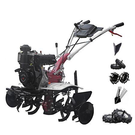 Motosapa Media Line 5.5 CP MS 5100 DCF Pachet Top + roti pneumatice + roti metalice + plug bilonat + plug simplu prasitoare + extractor cartofi
