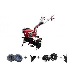 Motosapa Media Line MS 7500 CFL 7CP Pachet Basic cu roti cauciuc, roti metalice, plug bilonat, plug arat