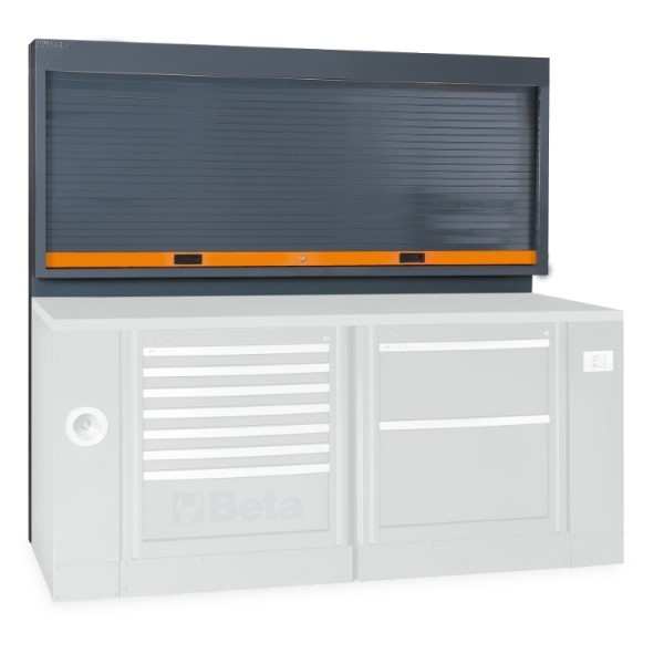 Panou de scule cu jaluzea si inchidere, portocaliu C55PS-O