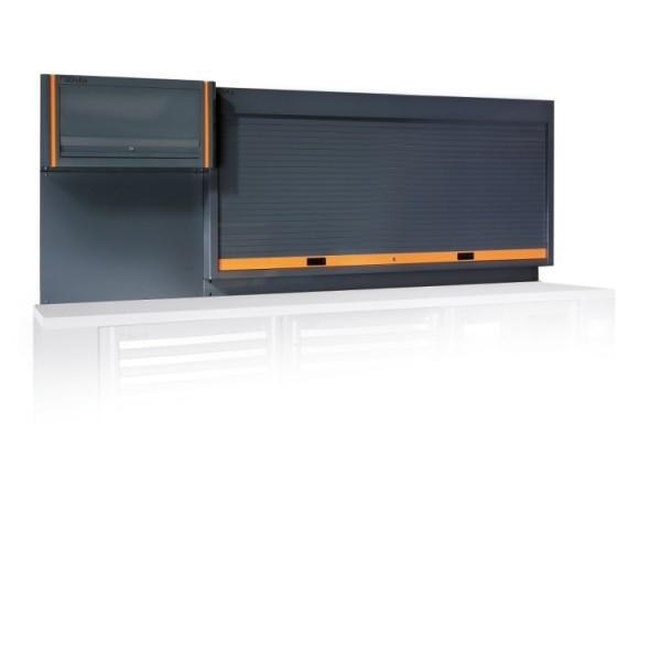 Panou de scule cu jaluzea si raft suspendat, portocaliu C55PP-O