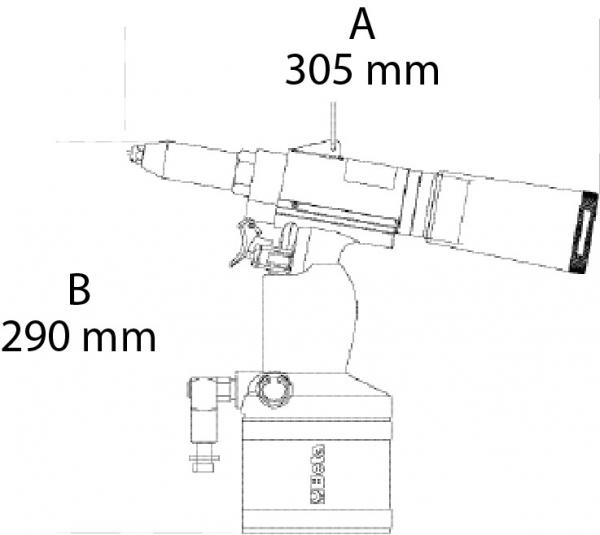 Pistol pneumatic de nituit, 4,8-7,8mm 1946C 7,8