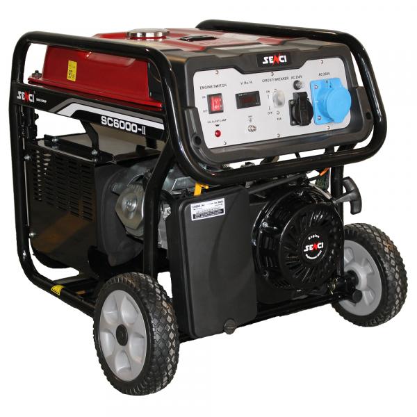 Generator de curent monofazat SENCI SC-6000 E putere maxima 5.5 kW Pornire electrica