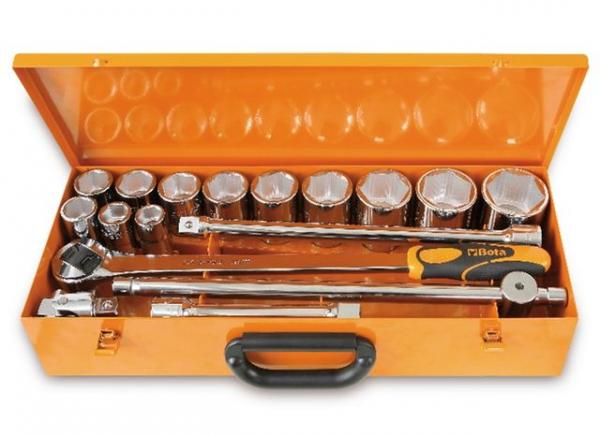Set tubulare 3 4 si accesorii, 17 piese 928A C12